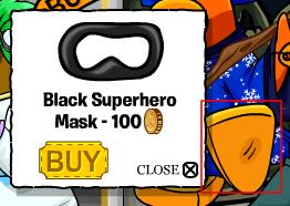 Black SuperHero Mask