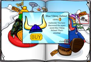Blue Viking Helmet